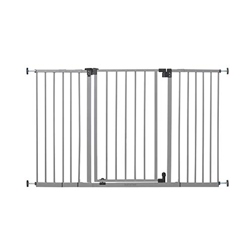 "Summer Secure Space Extra-Wide Safety Baby Gate, Grey, Slate Metal Frame – 30"" Tall, Fits Openings 28.5"" to 52"" Wide, Baby and Pet Gate for Extra-Wide Doorways, Stairs, and Wide Spaces"
