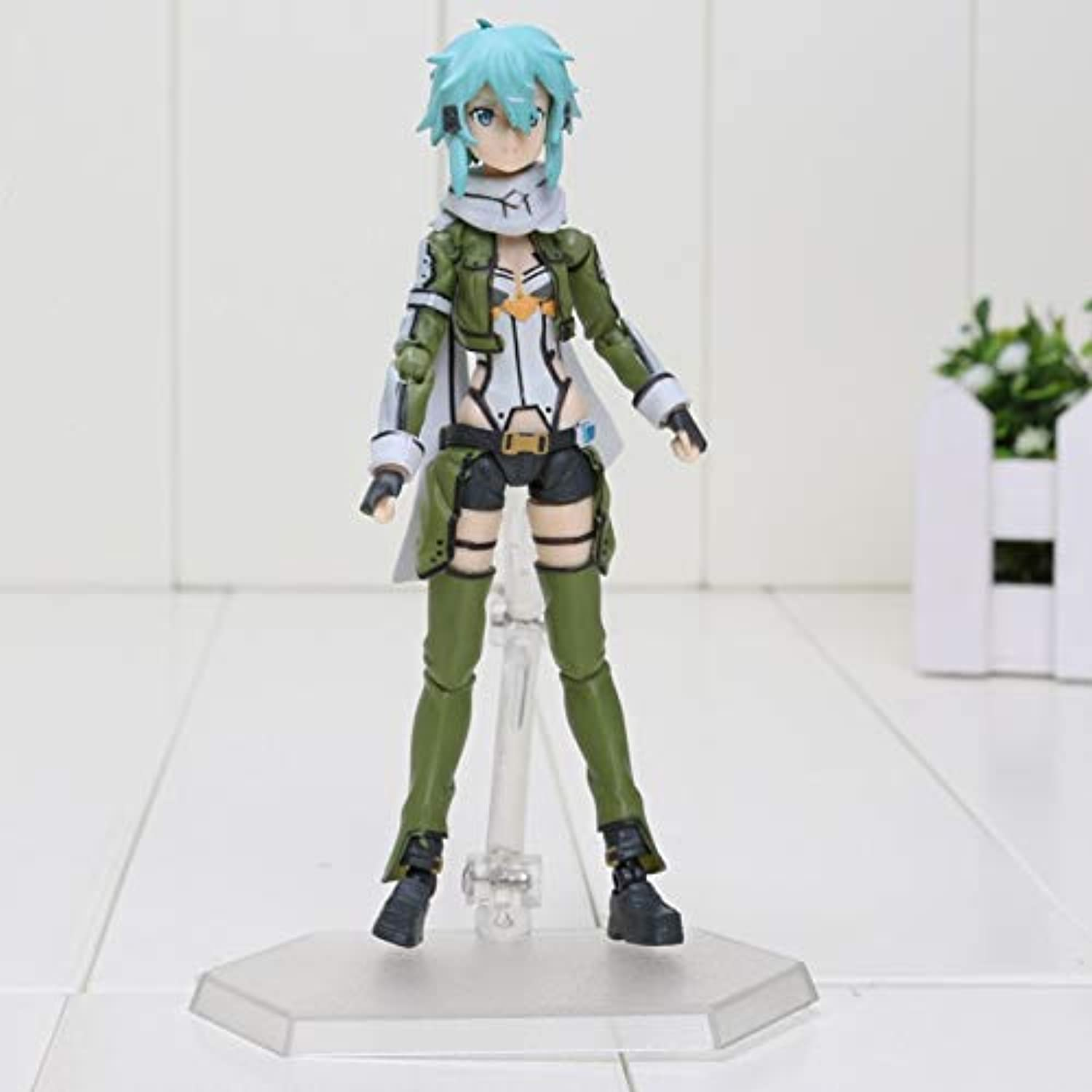 Allegro Huyer Anime Sword Art Online ii Figure 3 Gun Gale Online ggo Asada Shino Sinon Figure Toys PVC Action Figure Collectible Toy(figma in Box)