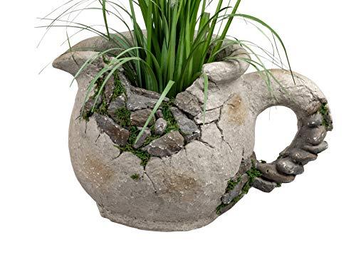 dekojohnson - Vaso per piante in stile antico con anfora, effetto terracotta, 35 cm