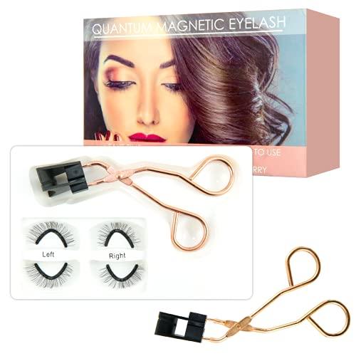 Richsky Magnetische Wimpern ohne Eyeliner, Monalash Magnetic Eyelash Kit, Magnetic Eyelashes Applicator Tool Kit, Glu-Free Magnetic Eyelash Clip & Eyelashes Set, Wiederverwendbare Dual Magnetic Lash, 2 Paar Quantum Lashes.