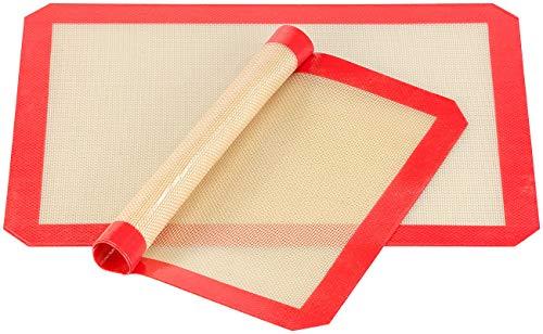 Rosenstein & Söhne Silikonmatte: 2er-Set Antihaft-Dauer-Backmatten aus Silikon, 30 x 40 cm, BPA-frei (Backunterlage)