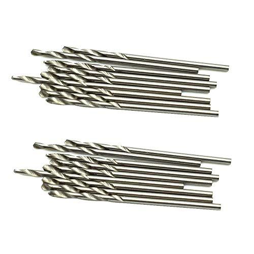 HONJIE 1.5mm Twist Drill Bit for Wood, Soft Metal, Plastic, Aluminum Alloys-Sliver Tone 20pcs