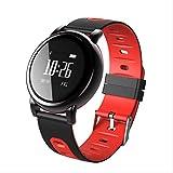 SGWEG Fitness Tracker Pulsera Inteligente Bluetooth con Reloj Deportivo Correa de Silicona Salud Podómetro Anti-Lanzamiento Rojo