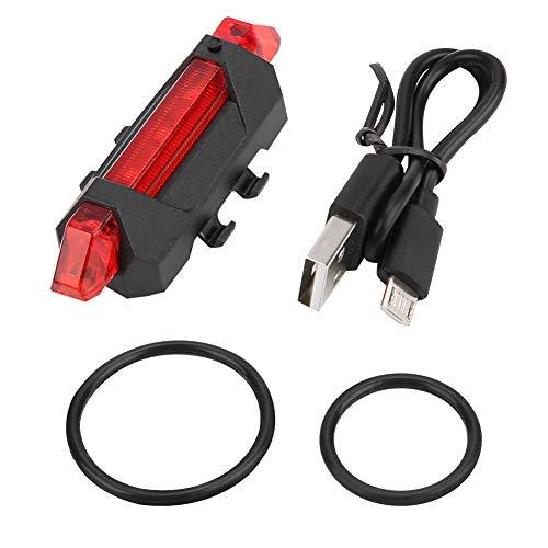 Leyeet Portátil USB recargable bicicleta cola bicicleta trasera seguridad advertencia luz lámpara Super brillante