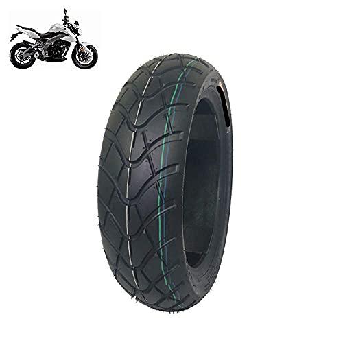 Neumáticos de Scooter eléctrico, neumáticos de vacío 120/90-12, Bandas de Rodadura Antideslizantes en Forma de Diamante, Cuadrados Resistentes al Desgaste, neumáticos de Motocicleta Todo Terreno 1