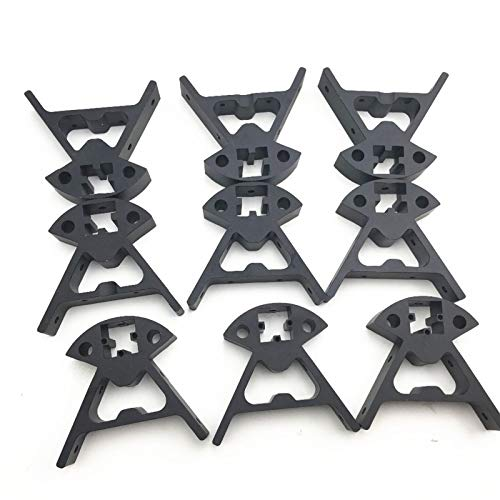 VIKTK 1Set 3D Delta Printer Parts Kossel Mini K800 Aluminum Alloy Top/Bottom Vertex Fit For 2020 Profile 3D Printer Frame