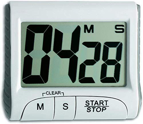 TFA Dostmann Digitaler Timer, Kunststoff, weiß