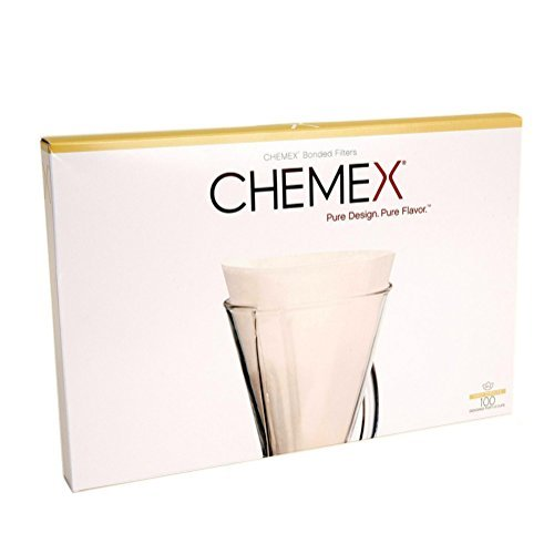 Chemex FP-2 Coffee Filters with 100-Chemex Bonded Unfolded 13-Filter Paper Half-Moon Circles by Chemex