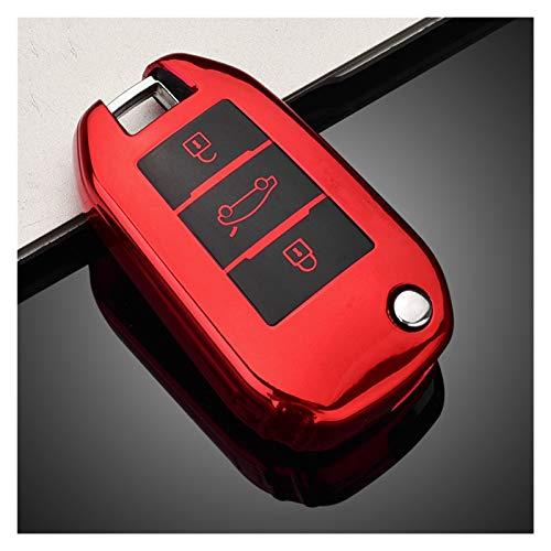 Cubierta de la caja de la llave del coche Ingrese Keyless Ingrese la cubierta de la llave de la cáscara de FOB remoto TPU anti-polvo Protección completa Ajuste para Peugeot 308 3008 508 208 408 307 Ci