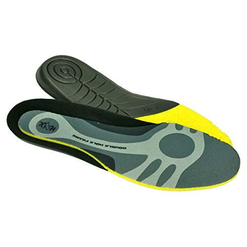 Haix Einlegesohle Soft passt sich der Fußform individuell an waschbar bei 30 °C sehr gute Feuchtigkeitsaufnahme schnelle Trocknung, Schwarz-Gelb (44 EU)