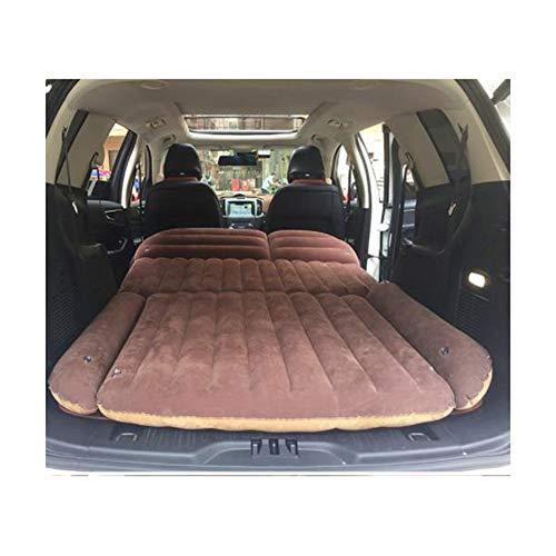 Anabei Cama inflable para coche, colchón de coche, cama de viaje trasera, asiento central y trasero de coche, cojín para dormir, cojín de aire, cama de coche