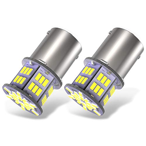 YITAMOTOR 1157 LED Bulb White for Reverse Light 12V-24V 2-Pack BAY15D 2357 2057 7528 LED Replacement Brake Tail Light Bulb for Vehicle Motorcycle Trailer Tractor Camper RV