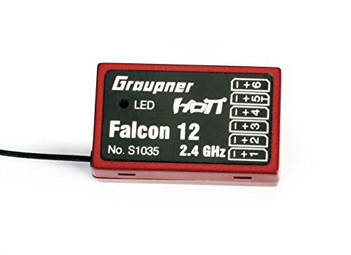 Graupner S1035 Empfänger HoTT Falcon 12, 6 Kanal, Gyro + 3-Achs Beschleunigungssensoren