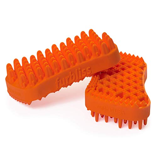 Furbliss Equine Horse Tack/Horse Brush Deshedding Massaging Grooming Curry Comb for Horses, Perfect Addition to the Tack Box - by Vetnique Labs