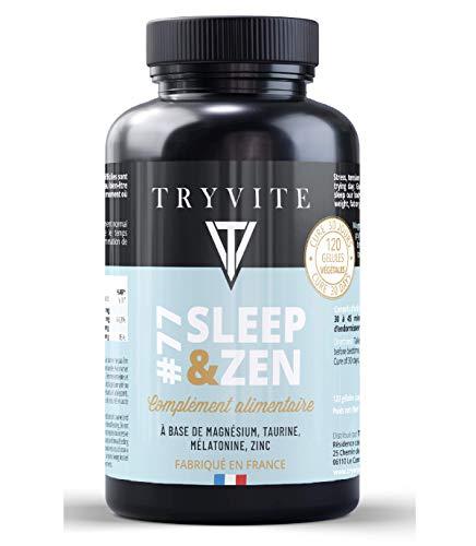 mélatonine 1.8mg+magnésium bisglycinate +zinc/Anti stress / facilite l'endormissement/gélules végétales/fabriqué en France