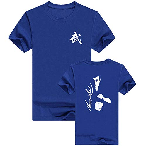 Bruce Lee T-Shirt, Männer Kampfkunst Kung Fu Film Superstar Bruce Lee bedrucktes T-Shirt