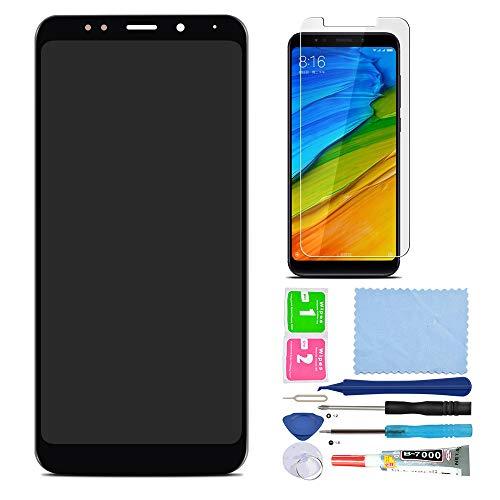 Pantalla LCD Táctil Asamblea Repuesto Compatible con Xiaomi Redmi 5 Plus Negro con Herramientas + Película Templada