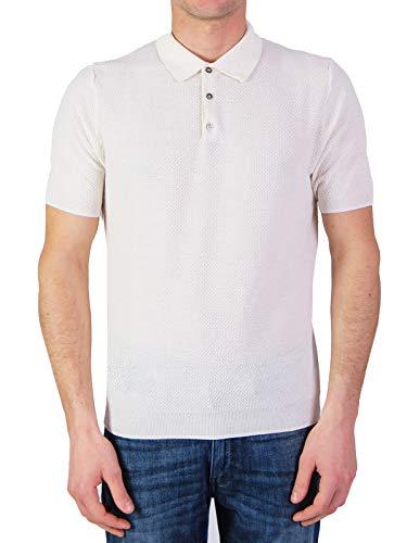 Plus Milano Mod. PO2100-3102B poloshirt voor heren, wit