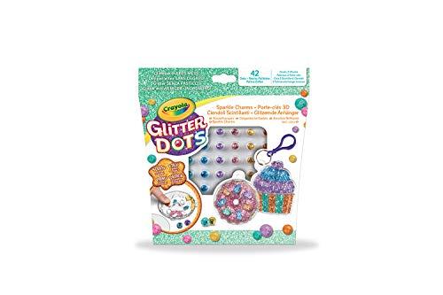Crayola Glitter Dots - Set Portachiavi Brillanti Dolcetti, per Creare Portachiavi Scintillanti con il Glitter Modellabile, Attività Creativa e Idea Regalo, 04-1084
