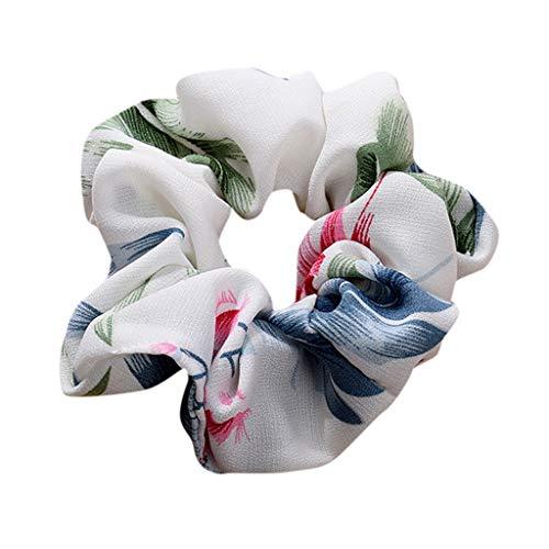 Dorical Erwachsene Haarband Zubehör für Frauen Mädchen Elegante Elastische Haarbänder Vintage Schachtelhalm Halter Seil Haarschmuck Ausverkauf(Weiß)