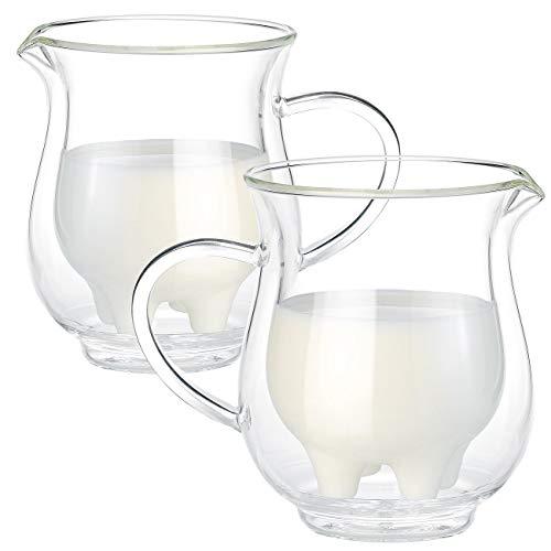 2 pichets à lait double paroi Pis de Vache - 20 cl [Cucina Dimodena]