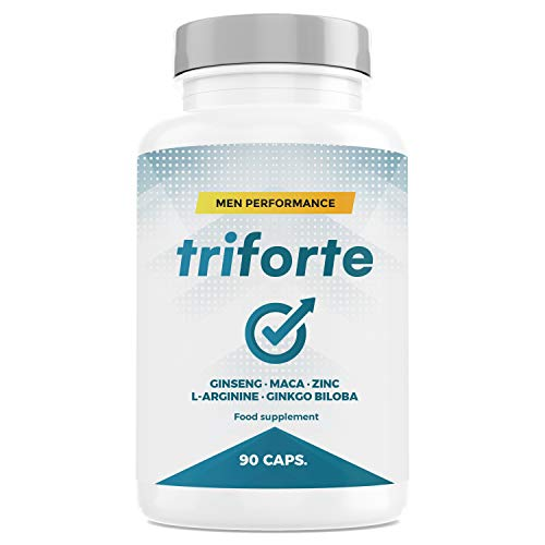 TRIFORTE Men Performance | Testosterone + Potenza + Energia | 90 Capsule