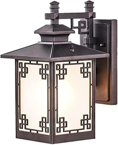 JYHZ Lámpara de Pared,lámpara de Pared de Aluminio al Aire Libre de Aluminio Chino Cuadrado,lámpara de Lectura,rústico y Elegante.