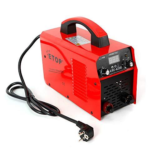 Mini saldatrice inverter a mano con casco di saldatura IGBT per elettrodi professionale, 120 A, accessorio 50/60 Hz, blu