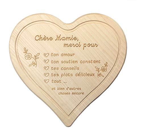 Spreukenband premium kwaliteit 100% emotioneel · ontbijtplankje van hout · broodplank met gravure voor oma · keukenplank · snijplank hart · geschenken voor oma · geschenk oma en opa