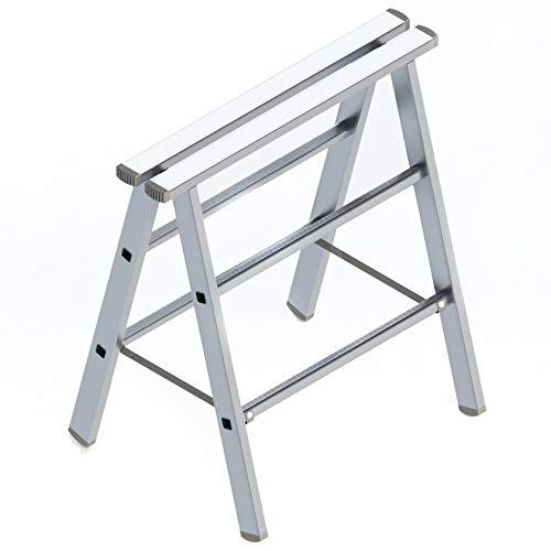 Alu Arbeitsbock - Werkstattbock, leichter und stabiler Montagebock - Alu Klappbock - Unterstellbock 80cm hoch, bis 230kg belastbar