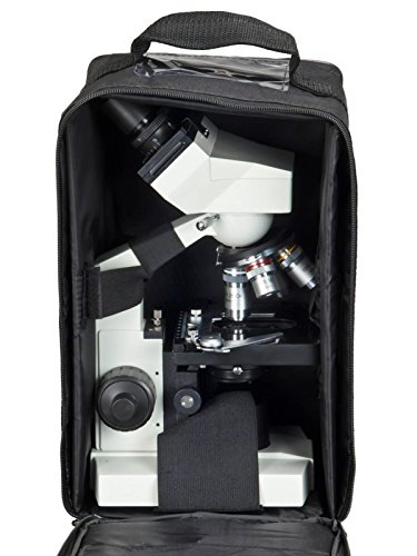 OMAX 40X-2000X Lab Binocular Biological Compound LED Microscope w Vinyl Carrying Case
