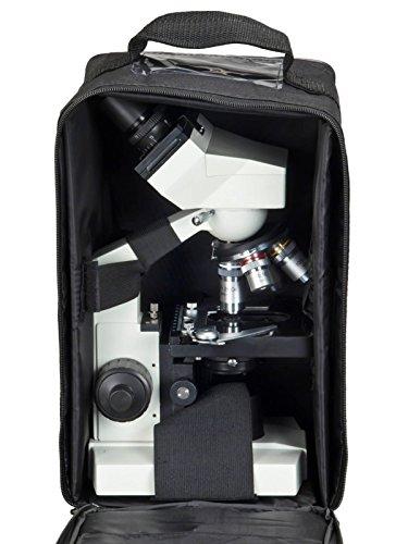 OMAX 40X-2000X Lab Binocular Biological Compound LED Microscope w Vinyl Carrying Case