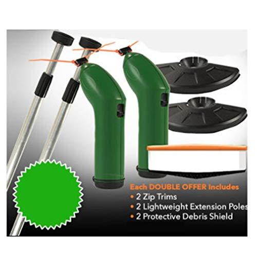 La bordeadora de la Recortadora sin Cable de Zip Trim Funciona con Lazos estándar de la Cremallera Recortadora Extensible portátil con Protector de jardín Weeder Verde y Negro