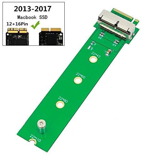 QNINE Tarjeta adaptadora PCIe SSD M.2 Key M 2013 2014