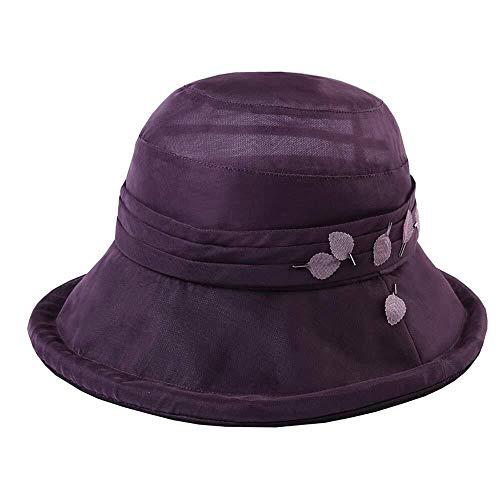 JIAHE115 Mini Persoonlijkheid baseballpet Zonnehoed Hoed - Vrouw zomer buiten zonnehoed UV Zonnehoed Fischer hoed gestikte bloempot Hoed