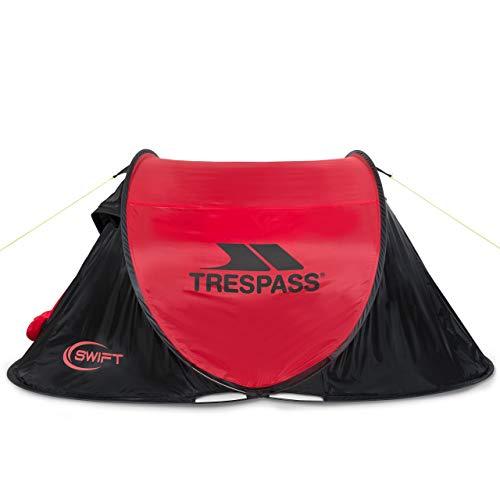 Trespass Swift2 Waterproof 2 Man Pop Up Tent - Red EACH