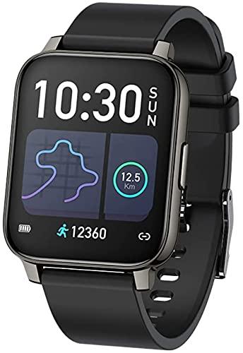 DALIL Smartwatch Orologio Fitness 1.69 pollici Orologio Donna uomo Sportivo Impermeabile, Con saturimetro misura pressione sanguigna Monitoraggi Saluti Funzioni Sport per Android e iOS (Nero)