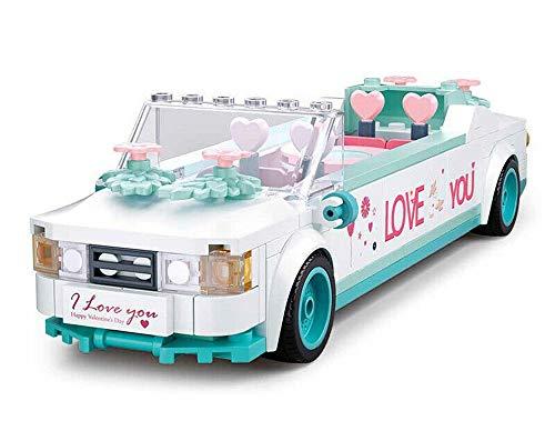 Modbrix Bausteine Auto Stretch Limo, Hochzeitsauto mit Brautpaar, Hochzeitsdeko