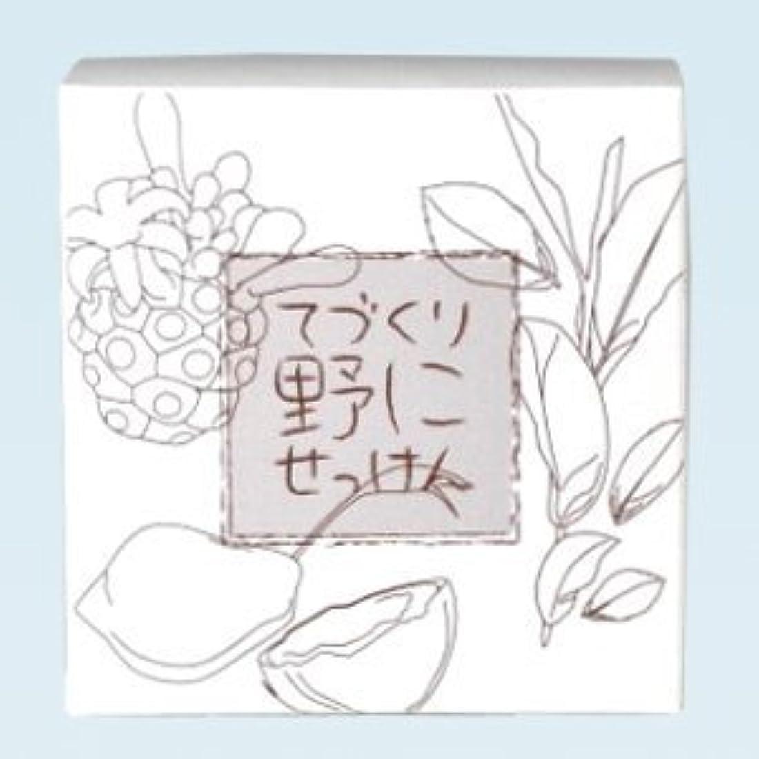 オーガニックスロットフォアタイプ緑茶 ノニ石鹸 てづくり野にせっけん(115g)