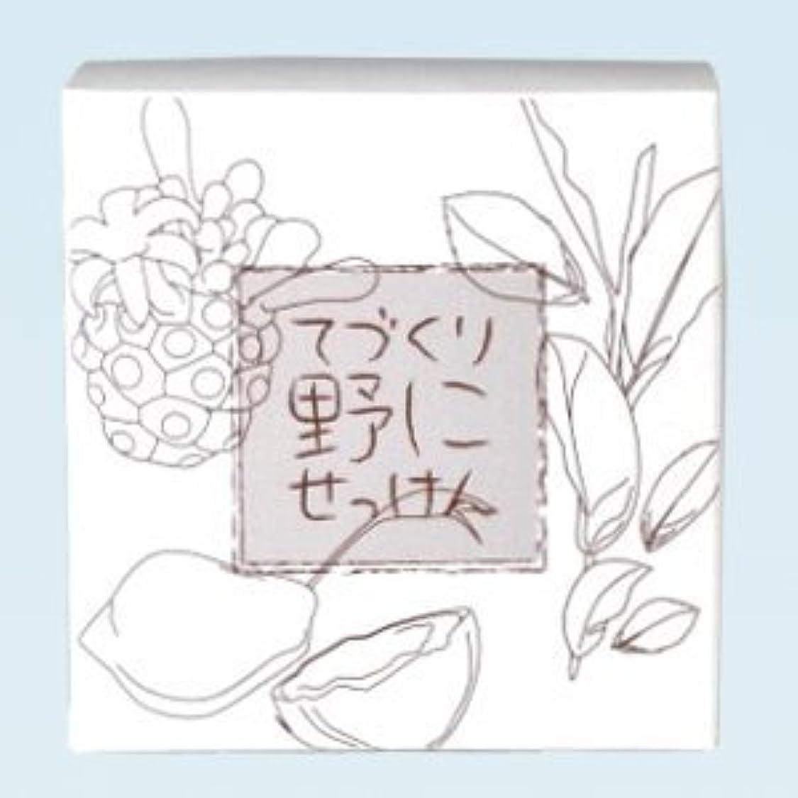 差し引く明らかに放課後緑茶 ノニ石鹸 てづくり野にせっけん(115g)