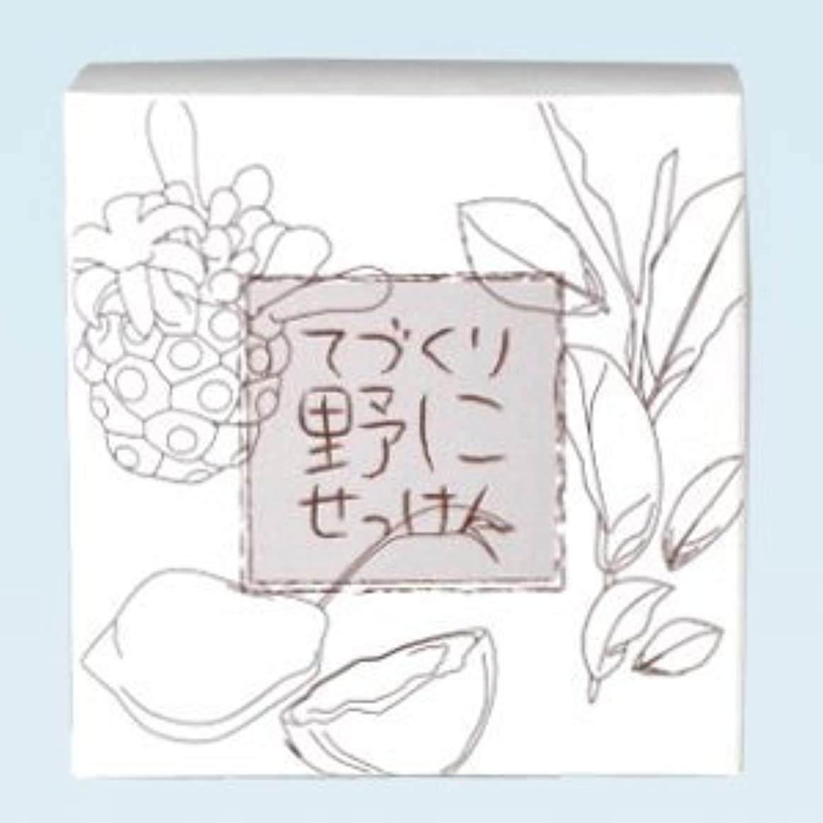 大工める最終緑茶 ノニ石鹸 てづくり野にせっけん(115g)