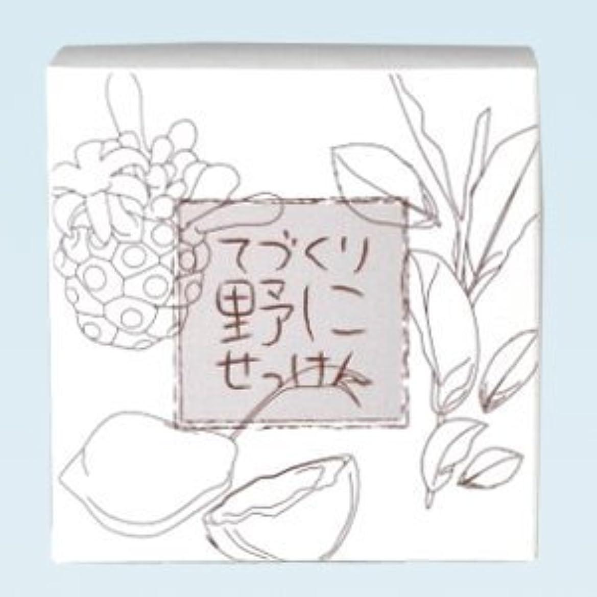 素敵なナビゲーション貫通する緑茶 ノニ石鹸 てづくり野にせっけん(115g)