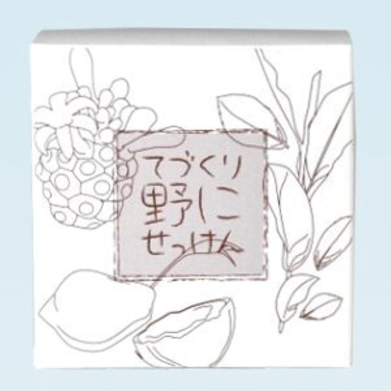 急流高尚なクロール緑茶 ノニ石鹸 てづくり野にせっけん(115g)