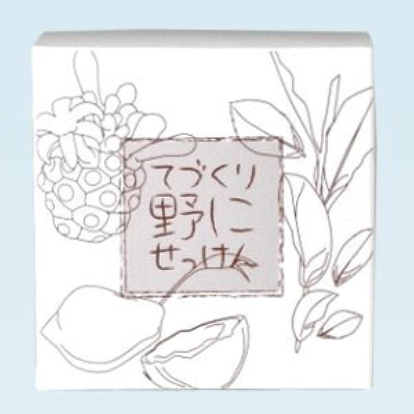 元気なつぶす光緑茶 ノニ石鹸 てづくり野にせっけん(115g)