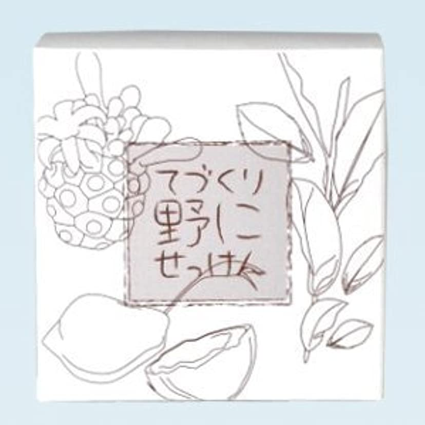 多分アルミニウム擁する緑茶 ノニ石鹸 てづくり野にせっけん(115g)