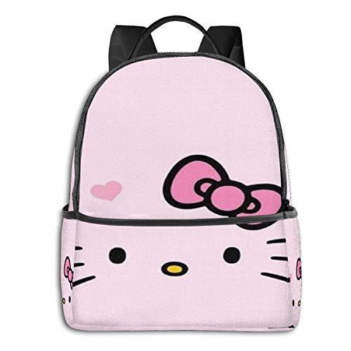 zhengdong Mochila de viaje con cremallera, diseño de Hello Kitty, color rosa, unisex, para adultos y adolescentes