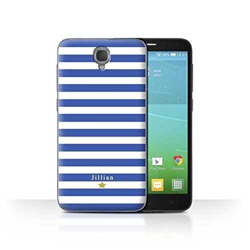 Stuff4 Phone Case/Cover/Skin/alcidl2/Custom Stripes/Striped Collection Étoile Rayure Bleu
