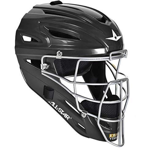 All-Star MVP2510BK S7 Catching Helmet/Youth/Solid BK
