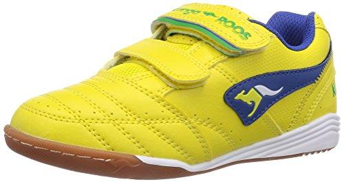 KangaROOS Power Court, Unisex-Kinder Hallenschuhe, Gelb (yellow/royal blue 744), 30 EU