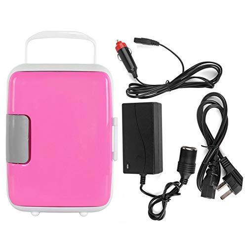 Emoshayoga Refrigerador portátil portátil súper versátil, refrigerador Compacto y Duradero, Mini refrigerador, Oficina de automóvil para el hogar(Pink)